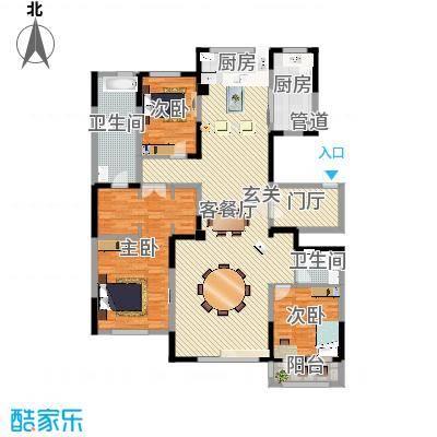 大禹南湖首府一期高层三居户型-副本-副本