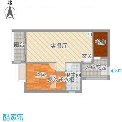 华润城81.00㎡二期C栋05、06户型2室2厅1卫1厨