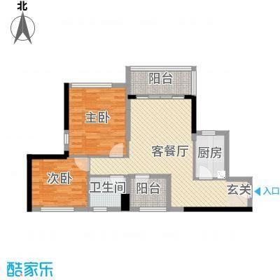 华润城82.00㎡3、4、5栋A、B户型2室2厅2卫