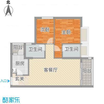 华润城89.00㎡二期A、B、C栋03、04户型2室2厅2卫1厨