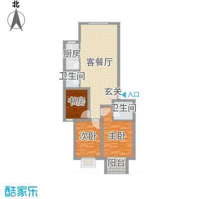 海唐广场114.00㎡6#1单元03户型3室3厅2卫1厨
