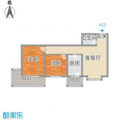 太原文兴苑101.88㎡5#6户型2室2厅1卫1厨