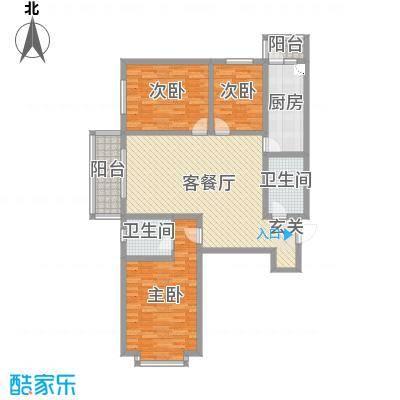 太原文兴苑145.67㎡4#2户型3室3厅2卫1厨