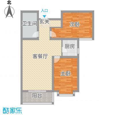 太原文兴苑109.56㎡4#3户型2室2厅1卫1厨