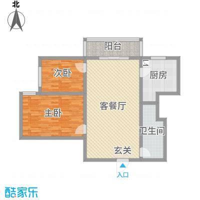 太原文兴苑108.85㎡5#2户型2室2厅1卫1厨