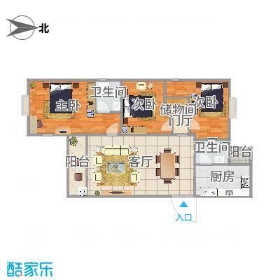 上海-奉浦苑-三居室