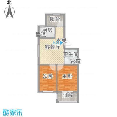 小城故事69.46㎡一期多层户型2室2厅1卫1厨