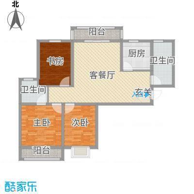 众城名府115.58㎡二期C2户型3室3厅2卫