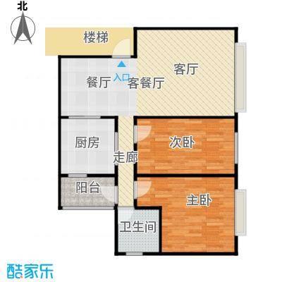 法苑小区户型2室1厅1卫1厨-副本