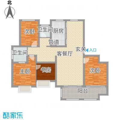 梅香雅舍143.00㎡D户型3室3厅2卫1厨