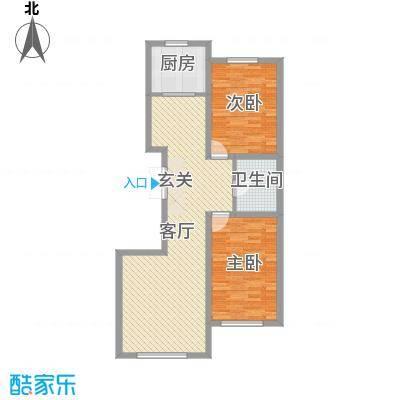 建发滨湖家园103.73㎡户型2室2厅1卫