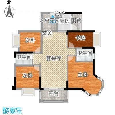 碧琴湾花园124.00㎡3、4栋03户型4室4厅2卫