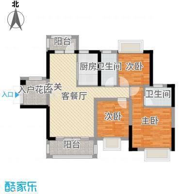 碧琴湾花园99.00㎡3、4栋01户型3室3厅2卫1厨