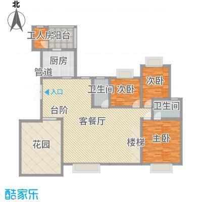 岭南世家3.63㎡四、六栋14、15层复式首层户型4室2厅1卫1厨-副本