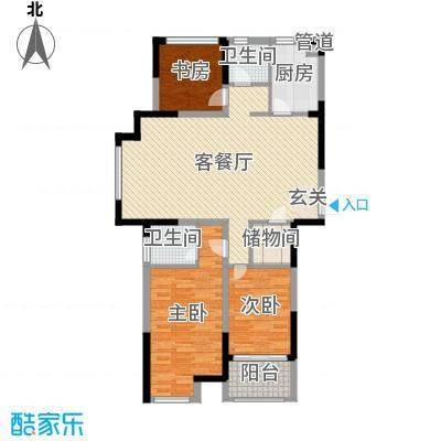 紫晶未来城110.00㎡一期1-10号楼标准层F4户型3室3厅2卫1厨