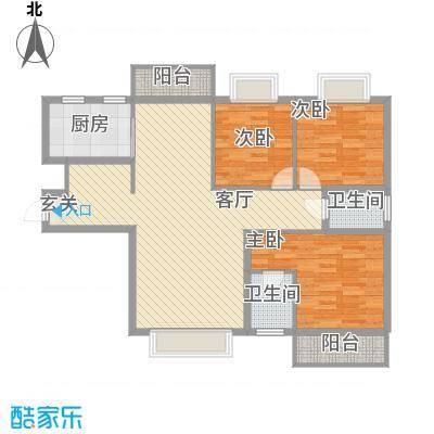 洪城时代广场128.00㎡户型3室-副本