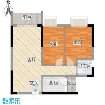 大运家园79.78㎡7、8、9号楼02户型2室2厅1卫1厨