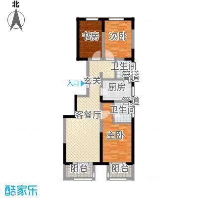 海唐广场114.00㎡户型3室3厅2卫1厨