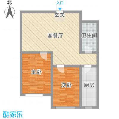 赤峰香格里拉国际城85.70㎡CG9户型1室1厅1卫1厨