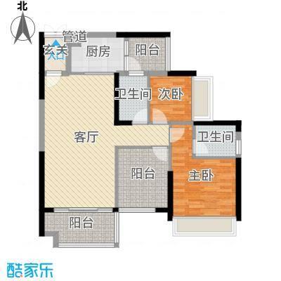 星海湾华庭98.00㎡5栋01户型3室3厅2卫1厨
