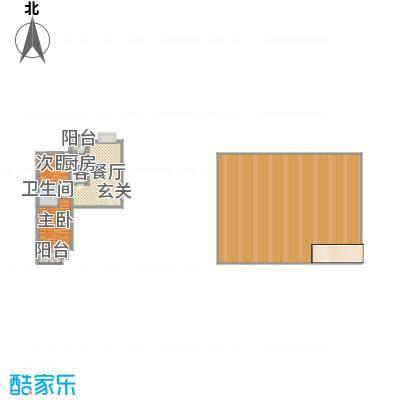 滨河绿洲98.00㎡滨河绿洲户型图户型(一)2室2厅1卫1厨户型2室2厅1卫1厨-副本