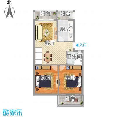 茶苑小区带阁楼83.7+60㎡下层