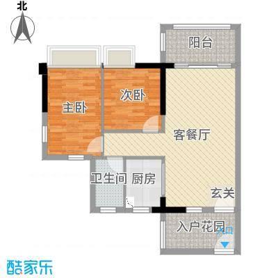 正德天水湖82.13㎡2/3栋01、02户型2室2厅1卫1厨