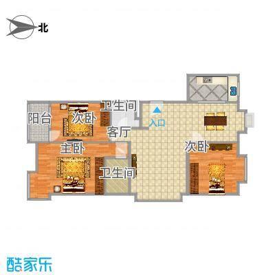安次-阳光逸墅120平米三居室-副本