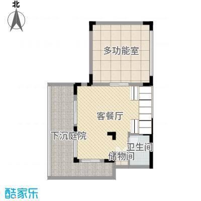 彩云之南大理王宫115.71㎡双拼别墅地下一层户型3室3厅4卫