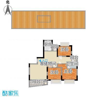 景明花园中环明珠138.85㎡上海中环明珠(景明花园)户型3室2厅1卫1厨-副本