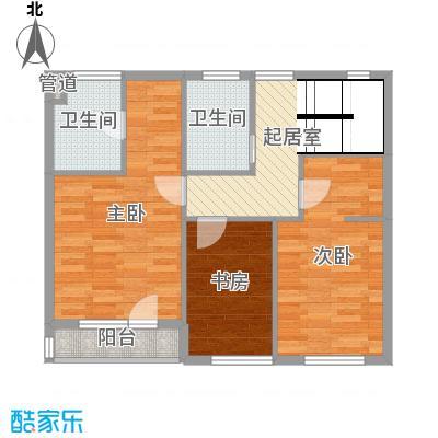 锦园178.00㎡B二层平面图户型4室4厅3卫1厨