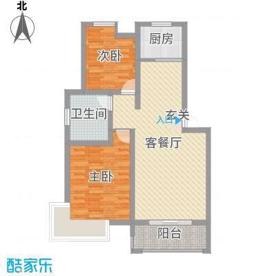 鲲鹏・岭秀城83.00㎡图片1户型2室2厅1卫1厨