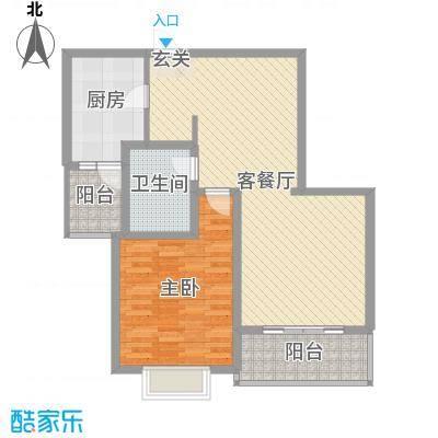 金花园90.00㎡A户型1室1厅1卫1厨