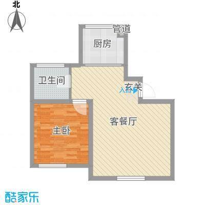 天富东苑67.90㎡户型1室1厅1卫1厨