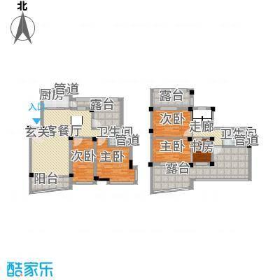 水印三江178.88㎡C复式型户型3室2厅2卫1厨-副本