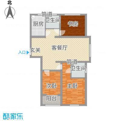 昌德星城121.72㎡2#5#C户型3室3厅2卫1厨