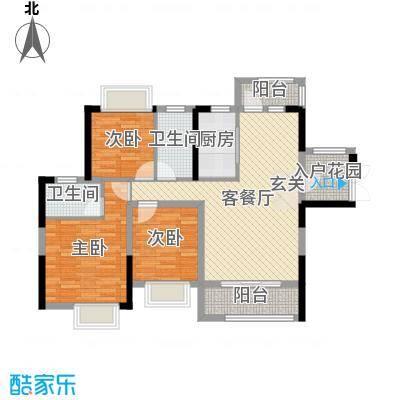 碧琴湾花园98.00㎡3、4栋02户型3室3厅2卫1厨