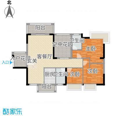 碧琴湾花园126.38㎡09栋02单元户型4室4厅3卫1厨