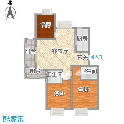 润和山居120.00㎡D4-2-302402户型3室3厅2卫1厨
