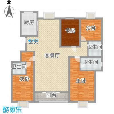 润和山居180.00㎡E3-2-202302户型4室4厅3卫1厨