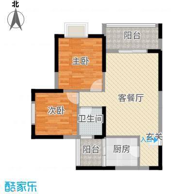 凯信水韵滨江二期公园大帝79.50㎡G户型2室2厅1卫1厨