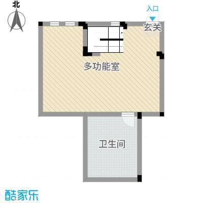 阳光地中海62.40㎡14号楼洋房B一层户型3室3厅1卫1厨