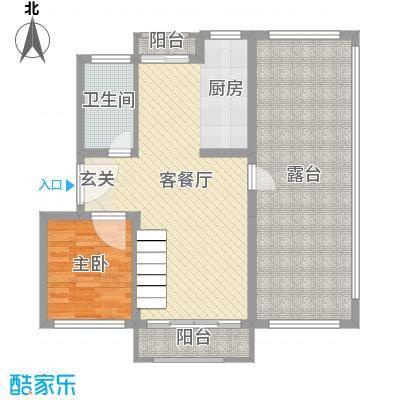 欧美世纪花园95.00㎡10#、11#、29#标准层复式F-1户型1室1厅1卫1厨