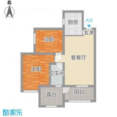 亿龙金河湾87.91㎡7号楼B户型3室3厅1卫1厨