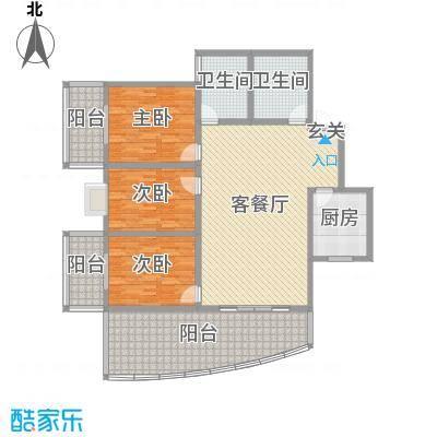宏明大厦147.28㎡项目B2户型3室3厅2卫1厨