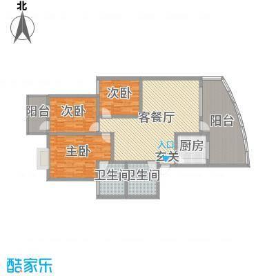 宏明大厦143.87㎡项目C户型3室3厅2卫1厨