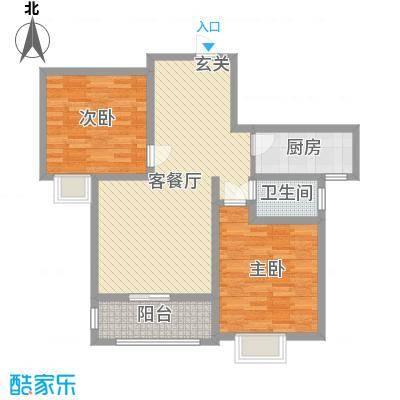 香山听语二期91.70㎡18#C户型2室2厅1卫1厨