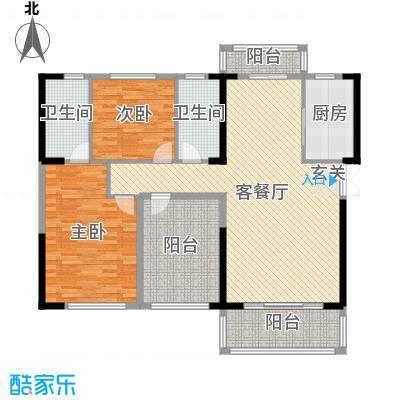 晟通牡丹舸142.86㎡5-7栋B户型3室3厅2卫1厨