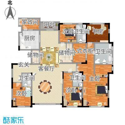 中海紫金苑320.00㎡中海紫金苑户型图A户型图3室2厅3卫1厨户型3室2厅3卫1厨-副本