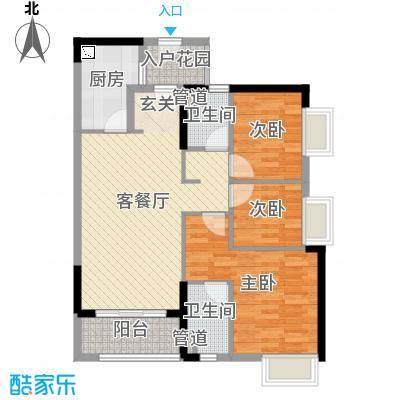 佛山时代廊桥95.00㎡1座1单元户型3室3厅2卫1厨